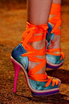 Dior Lace Up Heels