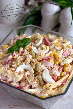 """""""Paseczkowa"""" sałatka z ryżem – Smaki na talerzu Coleslaw, Pasta Salad, Macaroni And Cheese, Grilling, Salads, Food And Drink, Menu, Cooking, Ethnic Recipes"""