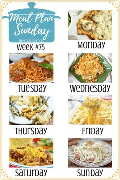 Chicken and Stuffing ~ Meal Plan Sunday June 2018 by Brandie @ The Country Cook Sunday Recipes, Dinner Recipes, Caramelized Onions And Mushrooms, Cheesy Chicken Spaghetti, Glazed Sweet Potatoes, Taco Braid, Ritz Chicken, Dinner Menu, Dinner Ideas