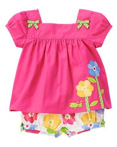 I can't wait for summer! Flower Grasshopper Two-Piece Set