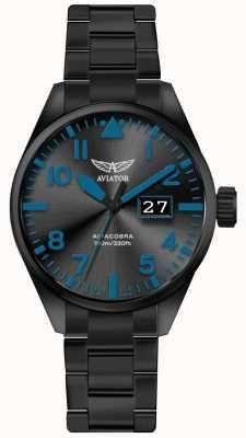 Aviator Mens Airacobra P42 Black PVD Plated Bracelet Black Dial  V.1.22.5.188. 6b667cb3073