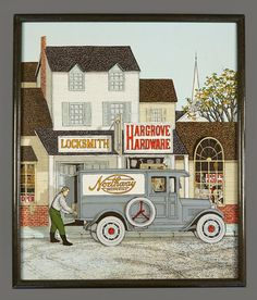 Vintage H. Hargrove Oil Painting Locksmith by VintageInquisitor