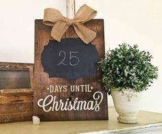 Christmas Countdown Sign 12×16