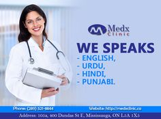 Medx Clinic Serve You With Their Highly Professional Doctors & Staff Having Commands In Many Language. For Any Cause Consult With us Today. Call: 289-521-8844 & 289-521-8845 #Health #Wealth #MedX #Clinic #Consultation #Pharmacy #Cause #Health #Sick #Illness #Solution