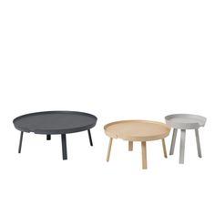 Around bord från Muuto, formgiven av Thomas Bentzen. Ett modernt och tåligt soffbord med stadig kons...