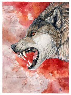 [insert creative title here] by wolf-minori on DeviantArt Wolf Hybrid, Angry Wolf, Wolf Tattoo Sleeve, Bd Art, Wolf Images, Creepy Drawings, Werewolf Art, Wild Creatures, Arte Horror