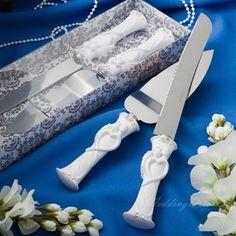 Bride and Groom Designed Resinous Handle Cake Knift & Server Set,US$26.96