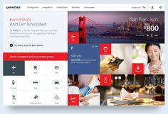 Qantas Frequent Flyer #WebDesign #UserInterface #UI #Design