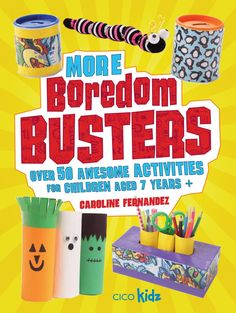 More Boredom Busters Book Review: There are over 50 awesome activities for children aged 7 and up. With fun things to make for each season of the year as well as favorite holidays, the kids will no longer be bored.