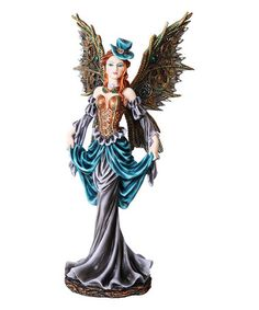 Another great find on #zulily! Steampunk Fairy In Blue Hat Figurine #zulilyfinds