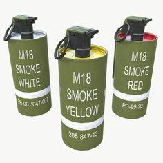 M18 Smoke Grenade 3D Model - 3D Model