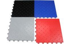 $2.19 SF--o Fctane Garage Floor Tiles - Interlocking Modular Flooring