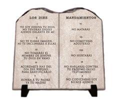 Los Diez Mandamientos Tableta #inspiragifts #uniquedecor #christiangift