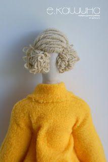 Mimin Dolls: tilda casaco amarelo- parte 3