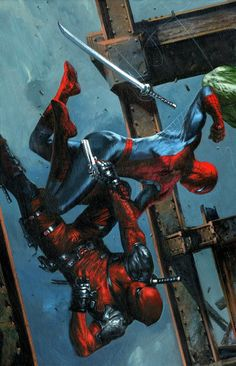 SPIDER-MAN VS. DEADPOOL by Gabriele Dell'Otto
