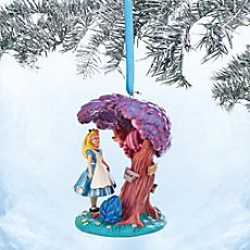Alice and Cheshire Cat Sketchbook Ornament