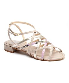 Look at this Amalfi Glicine Tobago Snakeskin Robust Leather Sandal on #zulily today!