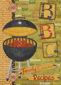 Create your own recipe book!  This design is a digital download for you to print and cut out to make a special recipe book for all your outdoor BBQ events.  The design fits the 4x6 brag books found at Walmart.  Just use recipe cards in place of photos in the book to have a unique recipe book of your own. Check out our website for details and ordering.