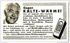 Original-Werbung/Inserat/ Anzeige 1960 - KLOSTERFRAU MELISSENGEIST - ca. 65 x 100 mm