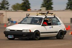 Rolla with mean offset. Toyota Starlet, Ae86, Slam Dunk, Toyota Corolla, Custom Cars, Cars And Motorcycles, Tractor, Offroad, Hot Rods