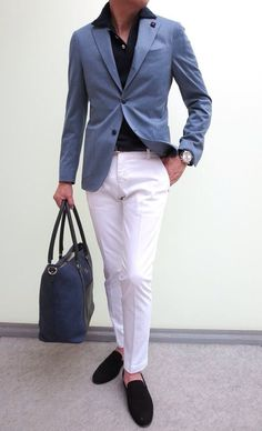 Suit Fashion, Look Fashion, Mens Fashion, Fashion Trends, Der Gentleman, Gentleman Style, Blazer Outfits, Casual Outfits, Cheap Summer Outfits