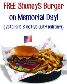 FREE Shoney's All-American Burger! {veterans + active duty military} + MORE Military Discounts!! #thefrugalgirls