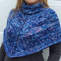 Hand Knitted Cowl Shawl Hand painted wool by WendysWonders127, $60.00