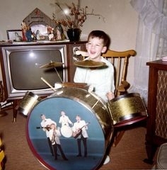 Baby Jesus, a drum kit, and a TV. What's not to love? Christmas-1969