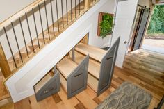 Urban Micro Home by Wind River Tiny Homes - Great idea for under-stair storage