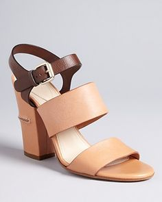 Chloé Cork Block Sandals - Two Tone High Heel | Bloomingdale's