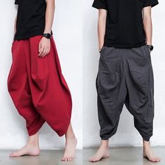 A:Measure your foot length,and then check it in the table,to choose the right size,the error is in Length: Japan Fashion, India Fashion, Fashion Fashion, Harem Pants Men, Mens Kurta Designs, Drop Crotch Pants, Cool Outfits, Fashion Outfits, Character Outfits