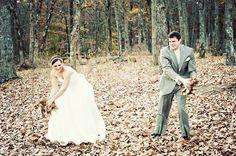 A Rustic November wedding ~ leaves