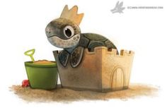 Daily Painting #940. (OG) King of the Beach by Cryptid-Creations on @DeviantArt