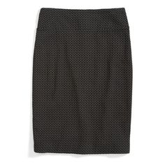 Stitch Fix Monthly Must-Haves: Add a textured pencil skirt to your work wardrobe. Mix things up by pairing this piece with printed black tights for an extra touch of dimension.: