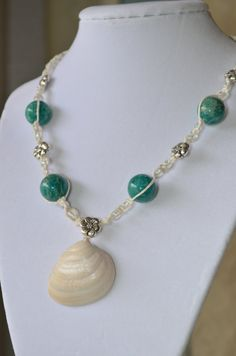 White Linen Hibiscus necklace by BeachStylebyAngela on Etsy, $23.00