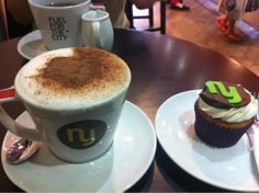 (138) Benjamin Hellberg shared his picture of a fab looking coffee and very cute cake!