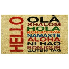 Found it at AllModern - International Hello Doormat
