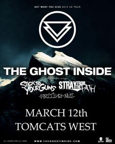 March 12 @ Tomcats West - Third String Productions presents The Ghost Inside | Stick To Your Guns | Stray From the Path | Rotting Out