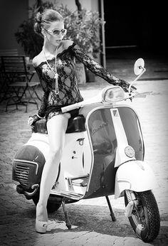 vespa II by Martin Wieland on Vespa Scooters, Moto Vespa, Piaggio Vespa, Lambretta Scooter, Scooter Motorcycle, Motor Scooters, Scooter Girl, Vespa Girl, Girl Bike