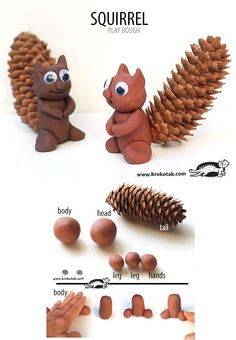 DIY playdough squirrel
