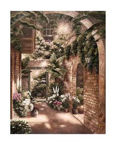 Terrace Courtyard Gardens Decorative Art Posters And Prints At Betsy Brown She Is My Favorite