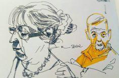 The gang is in town. Monthly sketch meeting @strasbourg. #portrait #urbansketchers #sketchbook