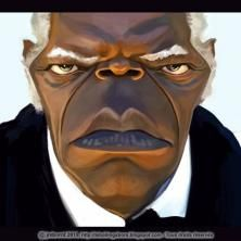 #FunnyFaces #Caricatures: Samuel Jackson by jmborot at wittygraphy