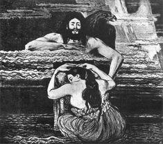 Stanisław Wyspiański, Iliad (Homer) - Thetis at Zeus, 1896