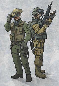 Wild Bill & Airborne : deviantART