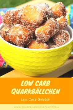 Low Carb Quarkbällchen selber machen mit Erythrit. Ein toller Low Carb Snack ohne Zucker!