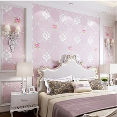2017 Real Sale Photo Wallpaper Papier Peint 3d Flower Non-woven Wallpaper Sweet Pastoral Bedroom Sofa Tv Background Wall Paper
