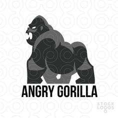 Exclusive Customizable Logo For Sale: Angry Gorilla | StockLogos.com
