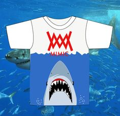 This is a PRE-ORDER the shirts will not ship until the expected arrival date 8/14/13Please allow 2-3 days for shipping. This shirt is in honor of Shark week and is a limited edition item only 12 will exist in the world. With this shirt you will receive shark shaped gummy candy ahaha your welcome.