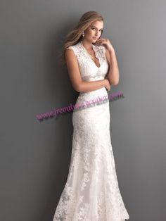 Sheath Keyhole Back Lace Wedding Dress SIZE 2 4 6 8 10 12 14 16 18 1cde496c4fa6
